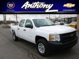 2012 Summit White Chevrolet Silverado 1500 Work Truck Crew Cab 4x4 #60045912
