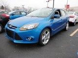 2012 Blue Candy Metallic Ford Focus Titanium Sedan #60045044