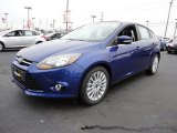 2012 Sonic Blue Metallic Ford Focus Titanium 5-Door #60045040