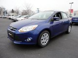 2012 Sonic Blue Metallic Ford Focus SE 5-Door #60045039