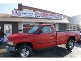 2001 Flame Red Dodge Ram 1500 SLT Regular Cab 4x4 #60045408
