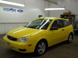 2005 Egg Yolk Yellow Ford Focus ZX3 SES Coupe #60045698