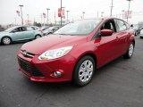 2012 Red Candy Metallic Ford Focus SE 5-Door #60045012