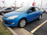 2012 Blue Candy Metallic Ford Focus SE Sedan #60045010