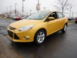 2012 Yellow Blaze Tricoat Metallic Ford Focus SE Sport Sedan #60045007