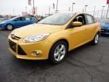 2012 Yellow Blaze Tricoat Metallic Ford Focus SE Sport Sedan #60045001