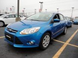 2012 Blue Candy Metallic Ford Focus SE Sedan #60044996