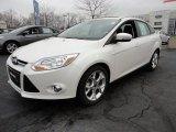 2012 White Platinum Tricoat Metallic Ford Focus SEL Sedan #60044995