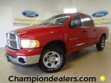2002 Flame Red Dodge Ram 1500 SLT Quad Cab #60111225