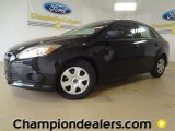 2012 Tuxedo Black Metallic Ford Focus S Sedan #60111218