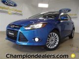 2012 Blue Candy Metallic Ford Focus Titanium 5-Door #60111217