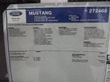 2012 Ford Mustang GT Coupe Window Sticker