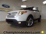 2011 White Platinum Tri-Coat Ford Explorer Limited #60111188