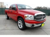 2007 Flame Red Dodge Ram 1500 Lone Star Edition Quad Cab #60111552