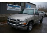 2002 Light Pewter Metallic Chevrolet Silverado 1500 Work Truck Regular Cab 4x4 #60111535