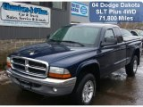 2004 Patriot Blue Pearl Dodge Dakota SLT Club Cab 4x4 #60111534