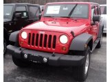 2012 Flame Red Jeep Wrangler Unlimited Sport S 4x4 #60111740