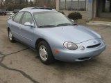 Light Denim Blue Metallic Ford Taurus in 1997