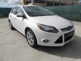 White Platinum Tricoat Metallic Ford Focus in 2012