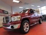 2007 Inferno Red Crystal Pearl Dodge Ram 1500 SLT Quad Cab 4x4 #60181779
