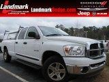 2008 Bright White Dodge Ram 1500 SLT Quad Cab #60181528