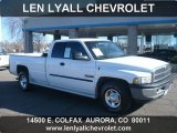 2001 Bright White Dodge Ram 2500 SLT Quad Cab #60181489