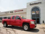 2008 Victory Red Chevrolet Silverado 1500 LT Extended Cab 4x4 #60181485