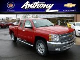 2012 Victory Red Chevrolet Silverado 1500 LT Extended Cab 4x4 #60233422