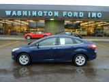 2012 Kona Blue Metallic Ford Focus SEL Sedan #60233066