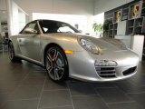 2012 Platinum Silver Metallic Porsche 911 Carrera 4S Cabriolet #60233017