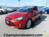 2012 Red Candy Metallic Ford Focus Titanium Sedan #60289662