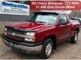 2004 Sport Red Metallic Chevrolet Silverado 1500 Z71 Regular Cab 4x4 #60289816