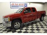 2012 Victory Red Chevrolet Silverado 1500 LT Extended Cab 4x4 #60320126