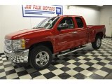 2012 Victory Red Chevrolet Silverado 1500 LT Extended Cab 4x4 #60320125
