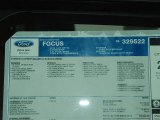 2012 Ford Focus SE Sport Sedan Window Sticker