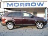 2011 Dark Cherry Kia Sorento LX V6 AWD #60328365
