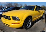 2006 Screaming Yellow Ford Mustang V6 Deluxe Convertible #60328816