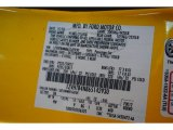 2006 Mustang Color Code for Screaming Yellow - Color Code: D6