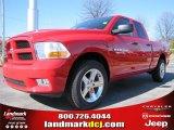 2012 Flame Red Dodge Ram 1500 Express Quad Cab #60328412
