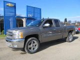 2012 Mocha Steel Metallic Chevrolet Silverado 1500 LT Extended Cab 4x4 #60378749
