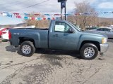 2012 Blue Granite Metallic Chevrolet Silverado 1500 LS Regular Cab 4x4 #60378703