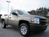 2012 Graystone Metallic Chevrolet Silverado 1500 Work Truck Regular Cab #60379028