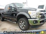 2012 Tuxedo Black Metallic Ford F250 Super Duty Lariat Crew Cab 4x4 #60378667