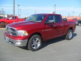 2012 Deep Cherry Red Crystal Pearl Dodge Ram 1500 Big Horn Quad Cab 4x4 #60379205