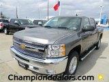 2012 Graystone Metallic Chevrolet Silverado 1500 LT Crew Cab 4x4 #60378520