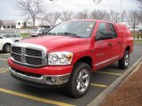 2007 Flame Red Dodge Ram 1500 SLT Quad Cab 4x4 #60445386