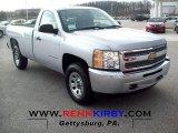 2012 Silver Ice Metallic Chevrolet Silverado 1500 Work Truck Regular Cab 4x4 #60445351