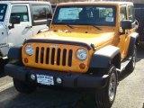 2012 Dozer Yellow Jeep Wrangler Sport 4x4 #60444884