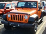 2012 Crush Orange Jeep Wrangler Sport S 4x4 #60444871