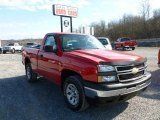 2007 Victory Red Chevrolet Silverado 1500 Classic Work Truck Regular Cab 4x4 #60445517